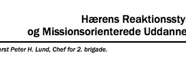Hærens Reaktionsstyrke og Missionsorienterede Uddannelse