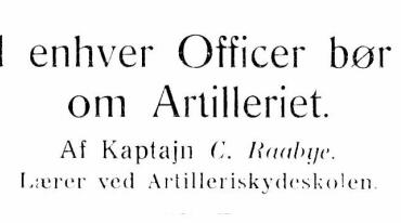 Hvad enhver Officer bør vide om Artilleriet