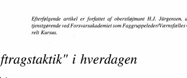 """Auftragstaktik"" i hverdagen"