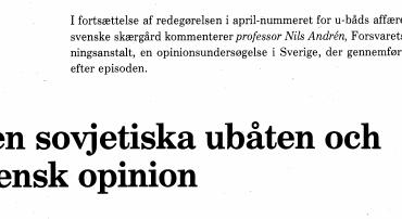 Den soyjetiska ubåten och svensk opinion