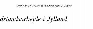 Modstandsarbejde i Jylland