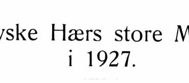 Den tyske Hærs store Manøvrer i 1927
