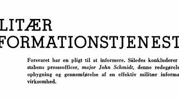 MILITÆR INFORMATIONSTJENESTE