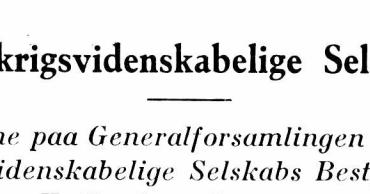 Det Krigsvidenskabelige Selskabs Bestyrelse 1931