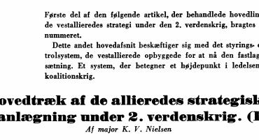 Hovedtræk af de allieredes strategiske planlægning under 2. verdenskrig. (II)