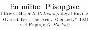 En militær Prisopgave - 1