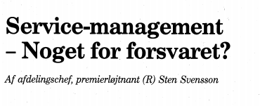 Service-management - Noget for forsvaret?