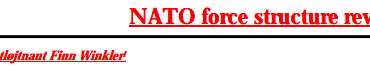 NATO force structure review
