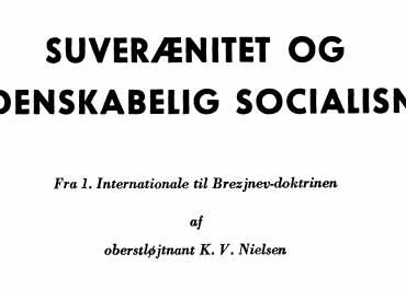SUVERÆNITET OG VIDENSKABELIG SOCIALISME