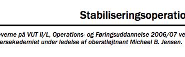 Stabiliseringsoperationer