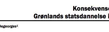Konsekvenserne af Grønlands statsdannelse i Arktis