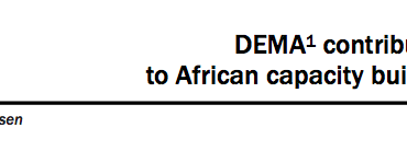 DEMA contribution  to African capacity building