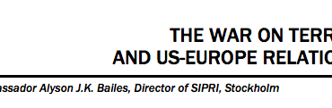 THE WAR ON TERROR AND US-EUROPE RELATIONS