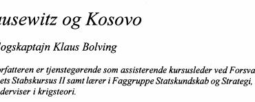 Clausewitz og Kosovo