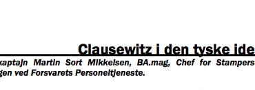 Clausewitz i den tyske idealisme