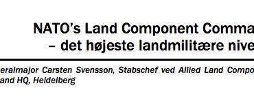 NATO's Land Component Command – det højeste landmilitære niveau