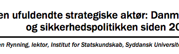 Den ufuldendte strategiske aktør: Danmark og sikkerhedspolitikken siden 2001
