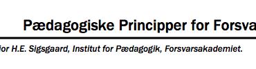 Pædagogiske Principper for Forsvaret
