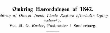 Omkring Hærordningen af 1842