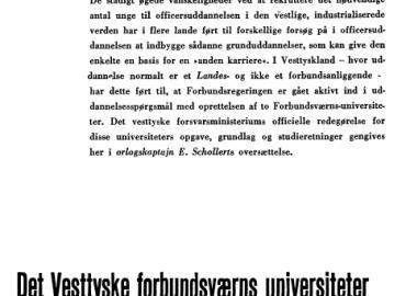Det Vesttyske forbundsværns universiteter