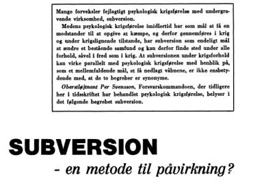 SUBVERSION - en metode til påvirkning?