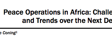 Peace Operations in Africa: Challenges and Trends over the Next Decade