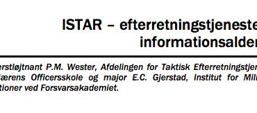 ISTAR – efterretningstjenesten i informationsalderen