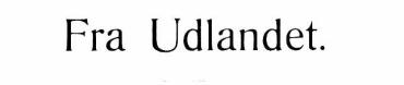 Fra Udlandet 1923 - 1