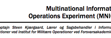 Multinational Information Operations Experiment (MNIOE)