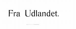 Fra Udlandet 1924 - 1