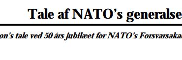 Tale af NATO's generalsekretær