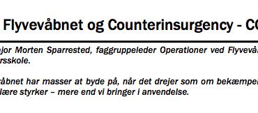 Flyvevåbnet og Counterinsurgency - COIN