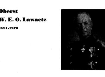 Oberst W. E. O. Lawaetz 1891-1970