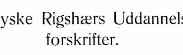 Den tyske Rigshærs Uddannelsesforskrifter