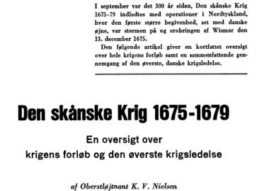 Den skånske Krig 1675-1679
