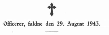 Officerer, faldne den 29. August 1943
