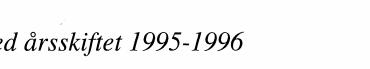 Ved årsskiftet 1995-1996