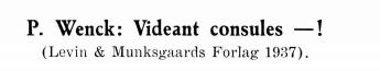P. Wenck: Videant consules — !