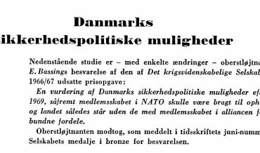 Dansk sikkerhedspolitik anno 1968