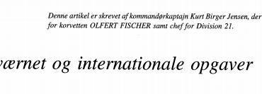 Søværnet og internationale opgaver