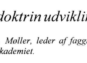 Værnsfælles doktrin udvikling i Danmark
