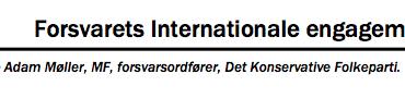 Forsvarets Internationale engagement