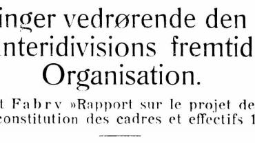 Betragtninger vedrørende den franske Infanteridivisions fremtidige Organisation