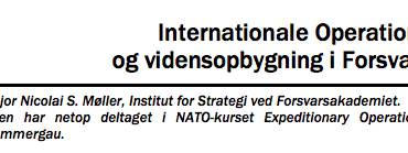Internationale Operationer og vidensopbygning i Forsvaret