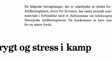 Frygt og stress i kamp