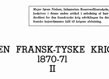 DEN FRANSK-TYSKE KRIG 1870-71 (II)