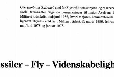 Missiler - Fly - Videnskabelighed