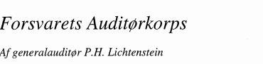 Forsvarets Auditørkorps