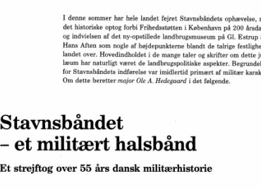 Stavnsbåndet - et militært halsbånd