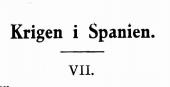 Krigen i Spanien VII